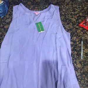 Lilly pulitzer Top NWT Sz Xl verbena lavender
